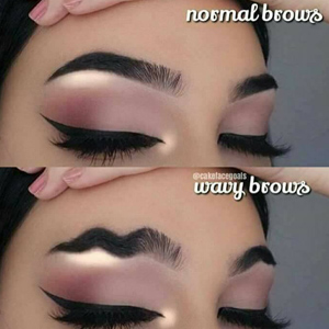 Before and After Wave Brow Created Using Beauty Products From Odessa, TX